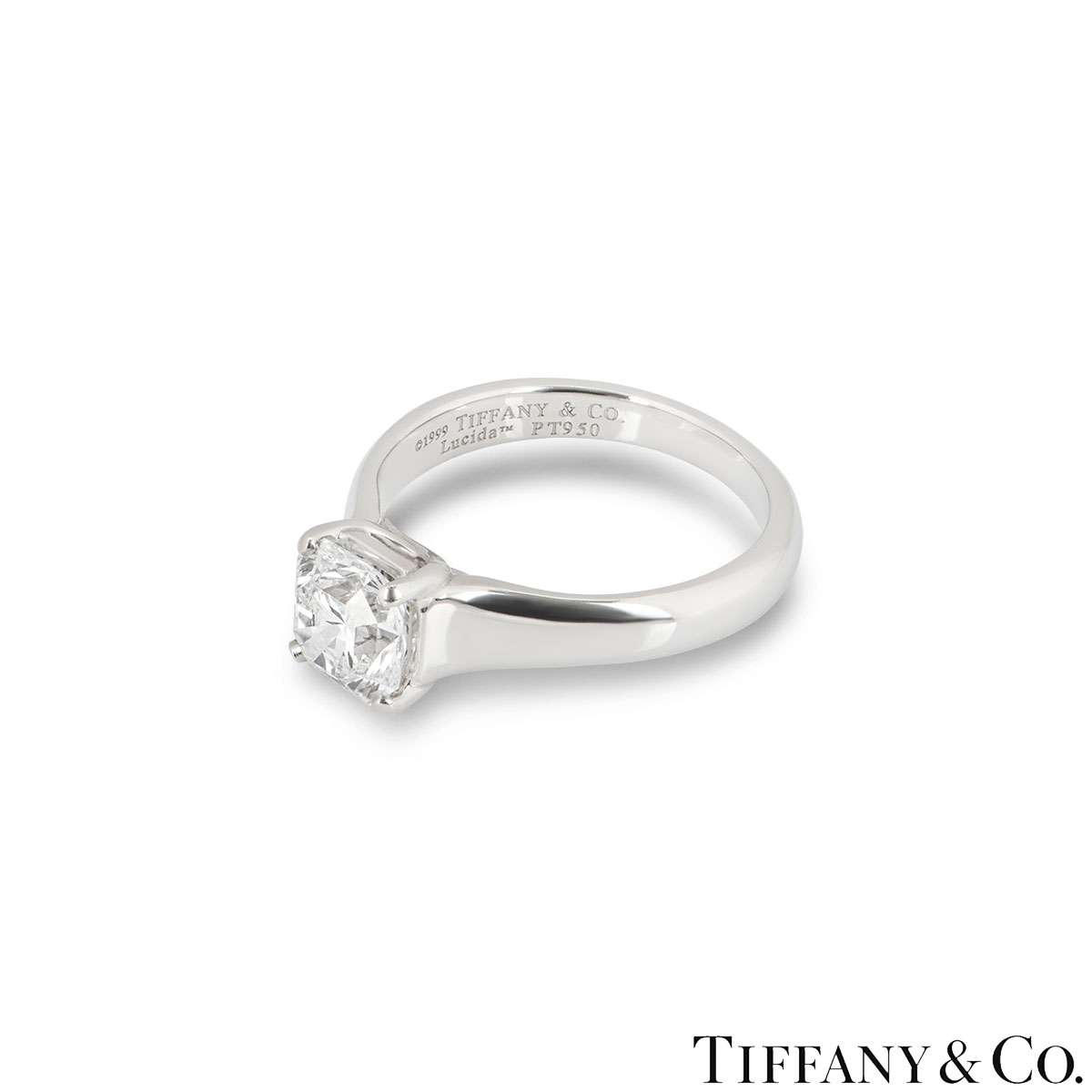 Tiffany & Co. Lucida Cut Diamond Ring 1.27ct E/VS1